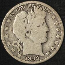 1898-O & 1899-O Barber Silver Half Dollar Lot - Free Shipping USA