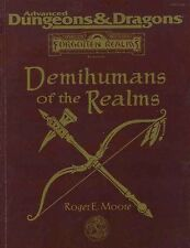 FOR12 DEMIHUMANS OF THE REALMS EXC!  Dungeons Dragons Player's TSR D&D Forgotten