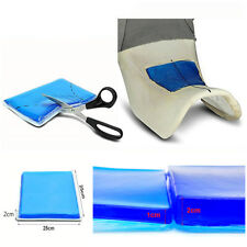 Motorcycle Seat Gel Pad Blue Shock Absorption Mats Comfortable Cushion 25*25*2cm