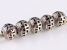 hot 5pcs retro Tibetan silver big hole beads fit Charm European Bracelet A#607