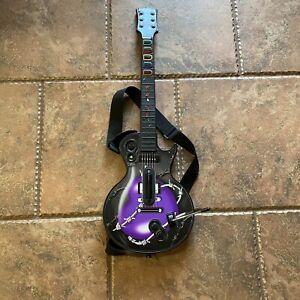 Guitar Hero Les Paul Wireless Guitar - Purple Skin TESTED WORKING STICKY GREEN