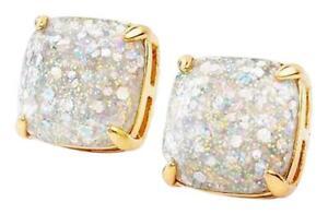KATE SPADE Opal Galaxy Glitter Square Stud Earrings