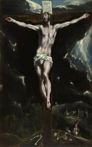 El Greco Christ on the Cross Poster Reproduction Paintings Giclee Canvas Print