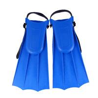 Kids Adjustable Flippers Fins Snorkel Scuba Swimming Diving Blue Medium