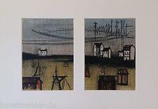 "BUFFET Bernard (1928-1999) Original Lithographie ""Der kleine Strand"" +50x70cm PP"