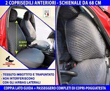 Coprisedili Fiat Punto Evo 2012> copri sedili universali imbottite schienale set