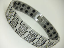 Womens Stainless Steel Magnetic Bracelet in Gift Pouch Twin Magnets Arthritis