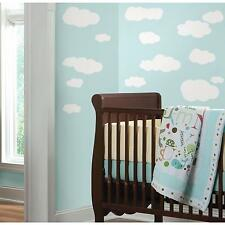 CLOUDS WHITE stick ups 19 big decals nursery wall stickers baby puffy sky
