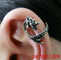 NEW GOTHIC DRAGON EAR CUFF EARRINGS UPPER HELIX CLIP ON CARTILAGE PUNK JEWELLERY