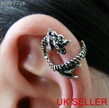 UK NEW ALCHEMY GOTHIC DRAGON LURE EAR CUFF UPPER HELIX CLIP WRAP CARTILAGE PUNK