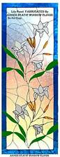 LILY STAINED GLASS EFFECT DECAL WINDOW CLING FILM PANEL SUN CATCHER DECORATION