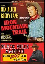 REX ALLEN - ROCKY LANE DOUBLE BILL! IRON MOUNTAIN TRAIL & BLACK HILLS AMBUSH DVD