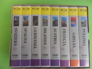 I GRANDI PAESI D'EUROPA. FRANCIA GRECIA SPAGNA GERMANIA.. 8 VHS + COF.VIVIVIDEO
