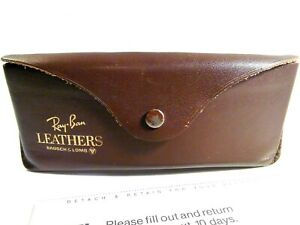 Vintage Ray-Ban Rayban Leathers Case Only Bausch & Lomb B&L With Paperwork
