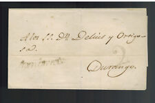 1847 Mexico Stampless Letter sheet Cover to Durango