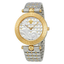 Versace Vanitas Silver Quilted Dial Ladies Watch VK7230015