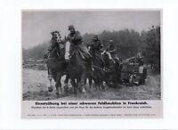 Photo Guerre 1939/45. Exercice avec un obusier en France. Armée allemande.