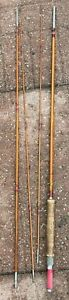 Vintage,Beautiful,Montague''FLASH''Bamboo Fly Rod 4 Piece