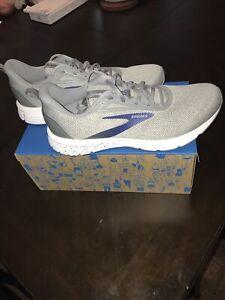 New Brooks Anthem 3 Athletic Shoe Size 10 Grey/Alloy/Blue