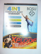 Bosu 4 in 1 Complete Body Workout DVD & Xplode Cross Training fitness NEW!
