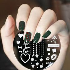 Nail Art Stamping Plate Image Plate Decoration Happy VALENTINES Day Hearts QG06