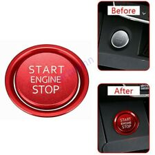 Car Start Stop Engine Switch Red Push Button Cover Decal For A3 A4 A6 Q5 A7 Q7