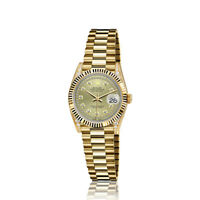 Rolex 26mm Presidential 18kt Gold Champagne Gold String Diamond Accent Dial Lugs