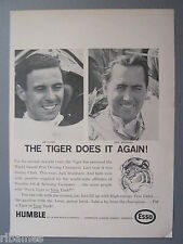 R&L Ex-Mag Advert: Jim Clark, Jack Brabham, Esso Petrol, World Grand Prix Race