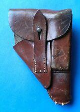 100% Original WW2 German PP/PPK Brown Leather Pistol Holster, dated 1943.