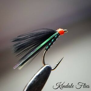 Flies Tied In The UK 3 X Natural holo Emerger Size 10 flies On Kamasan Hooks