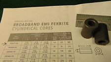 """(2) Laird Steward 28B0672-000 Ferrite EMI Core 43 Mix 1""""L x .66 OD x .34 ID NOS"""