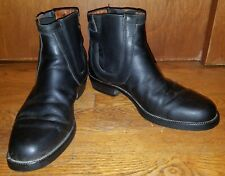 RUSSELL & BROMLEY Black Leather Jodhpur Chelsea Ankle Boots Women's Size 9.5