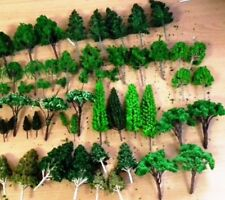 50 Trees assorted sizes 4-13cm tall HO 1/87 any scale trains wargames dioramas