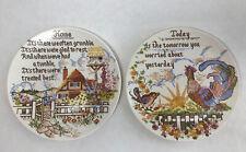 More details for vintage poole pottery needlework sampler plates home today made england