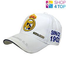 REAL MADRID WHITE BASEBALL CAP HAT OFFICIAL FOOTBALL CLUB SOCCER TEAM LICENSED