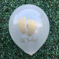 10x Footprint Latex Balloons Baby Shower Decor Oh Baby Balloon Birthday Deco W