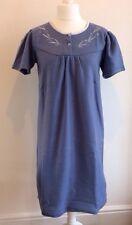 Chaud en polaire bleu traditionnel nightgown nightie housecoat pour femme taille 12 14 16