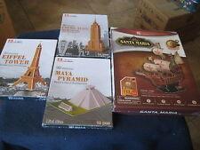 Mini 3D Puzzle Eiffel Tower, Empire State Building, Maya & CUBIC FUN T4008H 3D