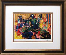 """LeRoy Neiman """"Desert Inn Baccarat '97"""" CUSTOM FRAMED ART NEW Gaming, casino"""
