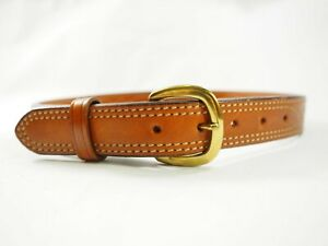 """Galco Fancy Stitched Leather SB10 Belt 32""""x 1.25"""" wide Brass Buckle"""