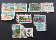 Stamps Cambodia older, on paper, 10 stamps. Unchecked. #CAM10