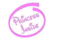 Princesa dentro de las niñas auto adhesivo caliente Rosa Dormitorio Puerta Pared Arte Divertido Tinkerbell