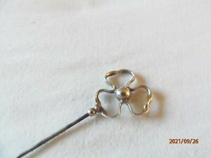 Silver Charles Horner Hat Pin with Trefoil Finial (27.5 cm) - Chester 1907