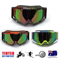 Graffiti Sports Snowmobile Snowboard SKI Snow UV GOGGLES Gray/Orange/Green Frame