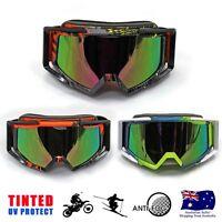 Graffiti Frame Tinted Lens skiing Snowboard Slalom Mirror Anti-Fog Ski Goggles