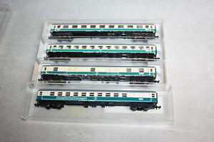 Fleischmann 4x Schnellzugwagen 8190 8191 8192 8196 alle mit Innenbeleuchtung