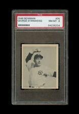 1948 Bowman Set Break # 35 Snuffy Stirnweiss RC PSA 8 NM-MT