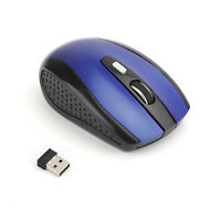 2.4GHz Wireless DPI Cordless Optical Mouse Mice USB Receiver For PC Laptop Blue