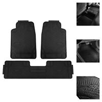 Car Floor Mats for All Weather Rubber Tactical Fit Heavy Duty Black