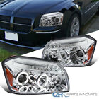 For 05-07 Dodge Magnum LED Dual Halo Clear Projector Headlights Lamps Left+Right  for sale